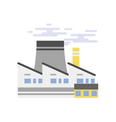 industrial building power plant or nuclear plant vector image