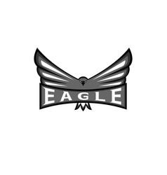 logo eagle spread wings hawk sport mascot vector image