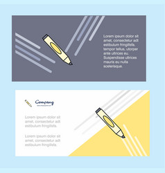 marker abstract corporate business banner vector image