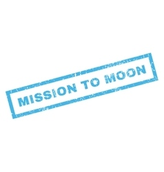 Mission To Moon Rubber Stamp vector image