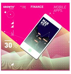 Mobile apps digital marketing smart phone vector
