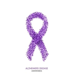 Modern ALZHEIMERS DISEASE awareness circles vector