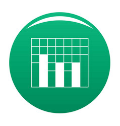 new graph icon green vector image