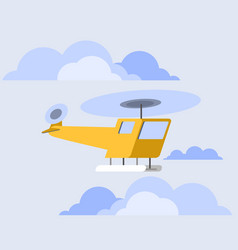 Orange copter flat skew icon vector