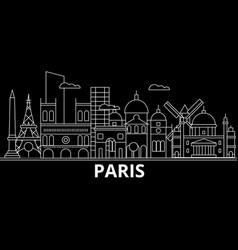 paris silhouette skyline france - paris vector image