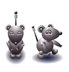 robot rat vector image