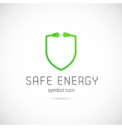 Safe Energy Concept Symbol Icon or Logo Template vector image