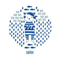 Sailor design vector