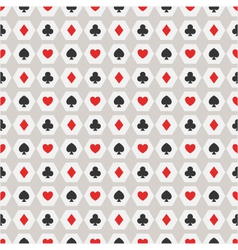 Seamless background of card suits vector