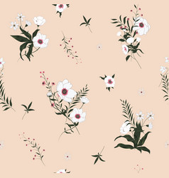 Seamless floral pattern with wild flowers vector