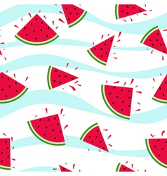 Seamless watermelon pattern splash vector image