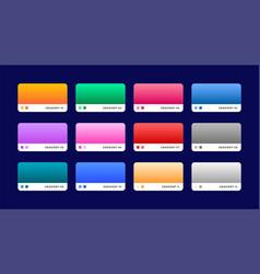 Set of 12 web gradients set vector