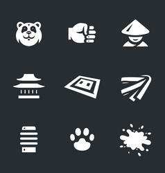 Set of karate icons vector