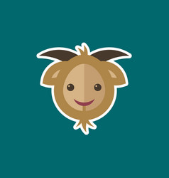 simple goat icon vector image