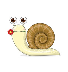 Snail cartoon cute vector