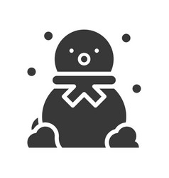 snowman in christmas and winter theme glyph style vector image