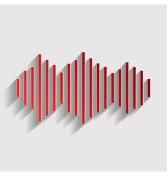 Sound waves icon vector image vector image