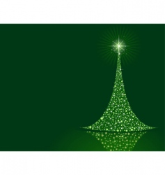 stylized Christmas tree background vector image