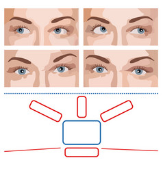test for ophthalmology vector image