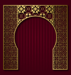 Traditional background patterned arched frame vector