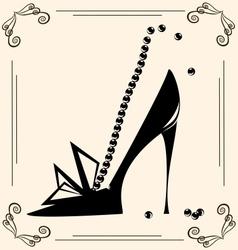 Vintage womans shoe vector