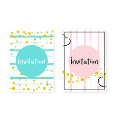 wedding set with dots and sequins bridal shower vector image