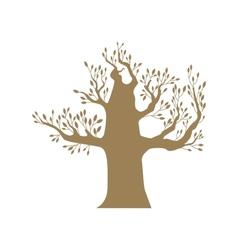 Brown big tree vector image vector image