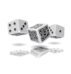 Casino cubes and QR code cube vector image vector image