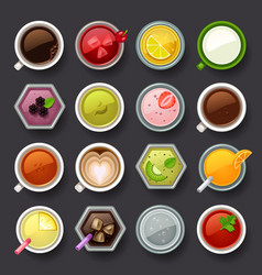 drink icon set vector image vector image
