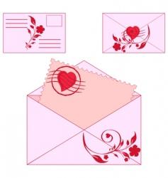 floral envelopes vector image vector image