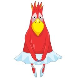 Funny parrot dancer vector