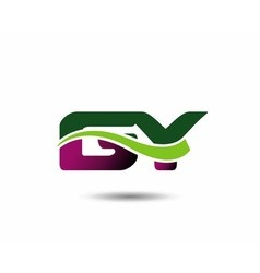 Letter g and y monogram logo vector