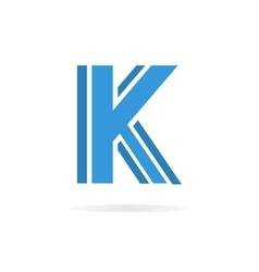 Logo K letter for company design template vector image