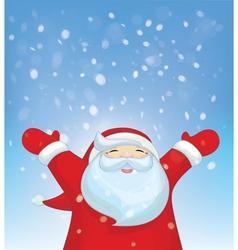 Santa snowfall vector