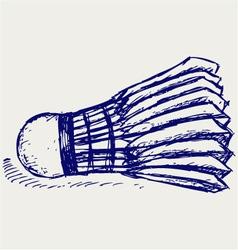 Sketch badminton ball vector image vector image