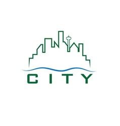 city skyline design template vector image vector image