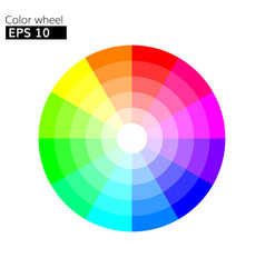 Color wheel 12 colors with 20 percent step vector