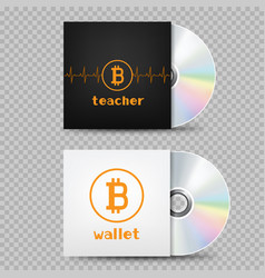 compact disc bitcoin cover transparent vector image