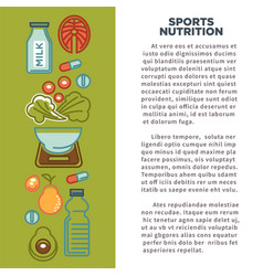 fitness food poster of sports healthy diet food vector image vector image