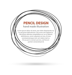 Hand drawn black line circles Logo design with vector image vector image