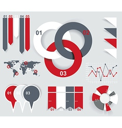 Modern Design template for infographics numbered vector image