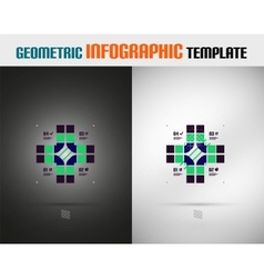 Modern Geometric Design template vector image vector image