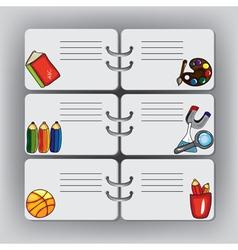 school design elements vector image vector image