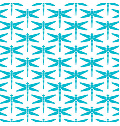 background pattern with dragonfly icons vector image vector image