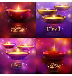 Diwali celebration design concept vector