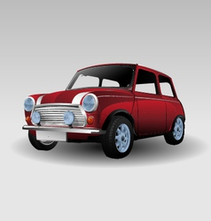 Mini red car vector image vector image