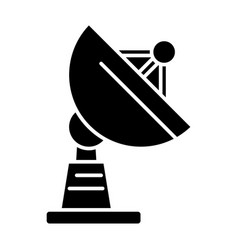 satellite dish icon black vector image