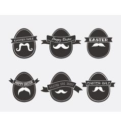 Easter vintage hipster eggs vector