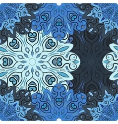 Pastel blue seamless pattern with flowery vector image vector image