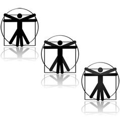 Vitruvian icon vector